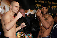 Montreal (QC) CANADA- Dec 10 2009- Official Weighting before Dec 11 Fight :Adrian Diaconu, Jean Pascal