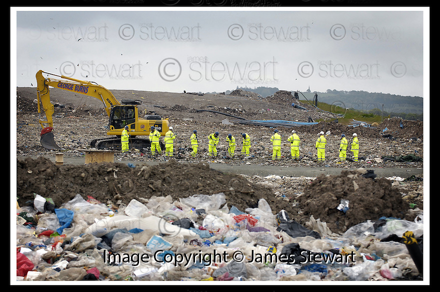 27/05/2008   Copyright Pic: James Stewart.File Name : sct_jspa03_john_mcanish.CENTRAL SCOTLAND POLICE START THEIR SEARCH OF THE AVONDALE LANDFILL SITE NEAR FALKIRK FOR THE BODY OF MISSING STIRLING MAN JOHN MCANISH.........James Stewart Photo Agency 19 Carronlea Drive, Falkirk. FK2 8DN      Vat Reg No. 607 6932 25.Studio      : +44 (0)1324 611191 .Mobile      : +44 (0)7721 416997.E-mail  :  jim@jspa.co.uk.If you require further information then contact Jim Stewart on any of the numbers above........