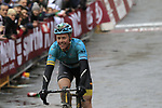 Truls Korsaeth (NOR) Astana crosses the finish line of the 2017 Strade Bianche running 175km from Siena to Siena, Tuscany, Italy 4th March 2017.<br /> Picture: Eoin Clarke | Newsfile<br /> <br /> <br /> All photos usage must carry mandatory copyright credit (&copy; Newsfile | Eoin Clarke)