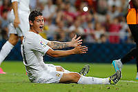 Real Madrid's Colombian midfielder James Rodriguez lamenting