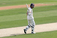Ryan ten Doeschate of Essex raises his bat to celebrate reaching his fifty during Essex CCC vs Yorkshire CCC, Specsavers County Championship Division 1 Cricket at The Cloudfm County Ground on 8th July 2019
