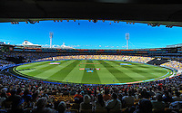 A general view of the ICC Cricket World Cup one day pool match between the New Zealand Black Caps and England at Wellington Regional Stadium, Wellington, New Zealand on Friday, 20 February 2015. Photo: Dave Lintott / lintottphoto.co.nz