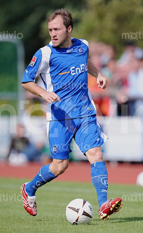 Fussball  1. Bundesliga  2008/2009   Testspiel  20.07.2008 Karlsruher SC  -  VfR Aalen Alexander Iashvili  (KSC) am Ball
