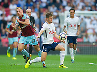 Tottenham's Ben Davies  and and Burnley Scott Arfield during the Premier League match between Tottenham Hotspur and Burnley at White Hart Lane, London, England on 27 August 2017. Photo by Andrew Aleksiejczuk / PRiME Media Images.