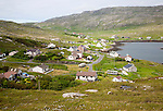 General view of Castlebay the largest settlement in Barra, Outer Hebrides, Scotland, UK