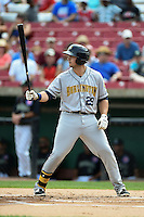 Burlington Bees first baseman Eric Aguilera (29) at bat during a game against the Kane County Cougars on August 20, 2014 at Third Bank Ballpark in Geneva, Illinois.  Kane County defeated Burlington 7-3.  (Mike Janes/Four Seam Images)
