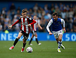 David Brooks of Sheffield Utd dips his shoulder and David Jones of Sheffield Wednesday goes the wrong way during the Championship match at the Hillsborough Stadium, Sheffield. Picture date 24th September 2017. Picture credit should read: Simon Bellis/Sportimage