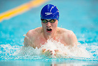 Picture by Allan McKenzie/SWpix.com - 05/08/2017 - Swimming - Swim England National Summer Meet 2017 - Ponds Forge International Sports Centre, Sheffield, England - Toby Mackay-Champion races in the mens 18yrs 50m breaststroke.