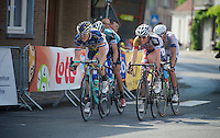 Pim Ligthart (NLD) & Gaëtan Bille (BEL) are among the last survivors of an early break in the final local lap<br /> <br /> Halle - Ingooigem 2013<br /> 197km
