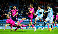 Blackburn Rovers' Bradley Dack has a shot blocked by Queens Park Rangers' Toni Leistner<br /> <br /> Photographer Alex Dodd/CameraSport<br /> <br /> The EFL Sky Bet Championship - Blackburn Rovers v Queens Park Rangers - Saturday 3rd November 2018 - Ewood Park - Blackburn<br /> <br /> World Copyright © 2018 CameraSport. All rights reserved. 43 Linden Ave. Countesthorpe. Leicester. England. LE8 5PG - Tel: +44 (0) 116 277 4147 - admin@camerasport.com - www.camerasport.com