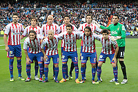 14.04.2012 SPAIN -  La Liga matchday 34th  match played between Real Madrid CF vs Real Sporting de Gijon (3-1) at Santiago Bernabeu stadium. The picture show Real Sporting de Gijon Team Group Liune-up