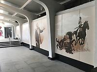 Kunst in der Metrostation Kutzovskaya - 19.06.2018: Polen vs. Senegal, Gruppe H, Spartak Stadium Moskau