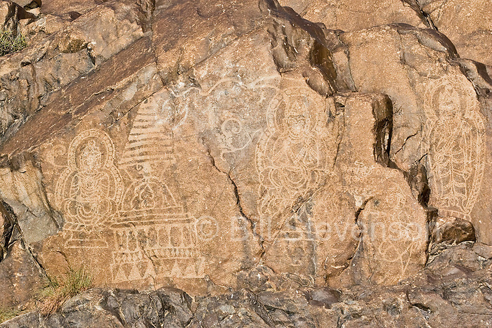 Ancient carvings of the Buddha in Pakistan