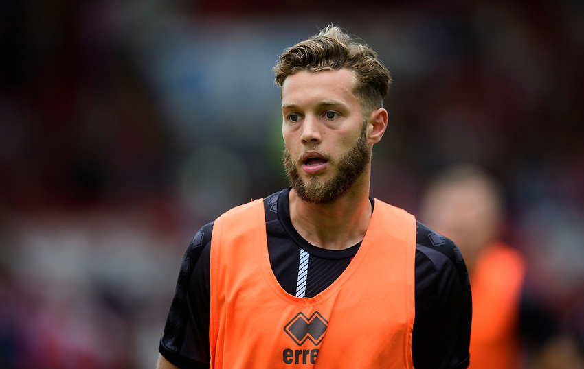 Lincoln City's Jorge Grant during the pre-match warm-up<br /> <br /> Photographer Chris Vaughan/CameraSport<br /> <br /> Football Pre-Season Friendly - Lincoln City v Sheffield Wednesday - Saturday July 13th 2019 - Sincil Bank - Lincoln<br /> <br /> World Copyright © 2019 CameraSport. All rights reserved. 43 Linden Ave. Countesthorpe. Leicester. England. LE8 5PG - Tel: +44 (0) 116 277 4147 - admin@camerasport.com - www.camerasport.com