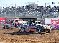 Apr 17, 2011; Surprise, AZ USA; LOORRS driver Ryan Beat (51) leads Jimmy Stephensen (33) during round 4 at Speedworld Off Road Park. Mandatory Credit: Mark J. Rebilas-