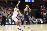 CHARLOTTESVILLE, VA - MARCH 03: Notre Dame's Bonzie Colson (35) shoots over Virginia's Isaiah Wilkins (21). The University of Virginia Cavaliers hosted the University of Notre Dame Fighting Irish on March 3, 2018 at John Paul Jones Arena in Charlottesville, VA in a Division I men's college basketball game. Virginia won the game 62-57.