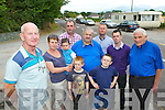 Matt Murphy left and resdidents in Anglont, Killorglin who are objecting to a proposed piggery being built in the area l-r: Cora, Joe, Dan and Ben O'Dwyer back row l-r: Cllr Michael Cahill, Tom Moriarty, Cllr Damian Quigg, Cllr John Francis Flynn and Batt Moriarty