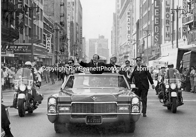 Hubert H. Humphrey campaign for President of the Untied States rides in motor Cade Los Angeles California, Fine Art Photography by Ron Bennett, Fine Art, Fine Art photography, Art Photography, Copyright RonBennettPhotography.com ©