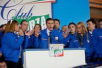 Roma 21 Febbraio 2014<br /> Presentata oggi a Roma  'Missione Azzurra', 200 volontari dei Club Forza Silvio, di Silvio Berlusconi, organizzati in venti equipaggi di due volontari ciascuno, a bordo di 20 Fiat Cinquecento, percorreranno le strade d'Italia con un obiettivo: parlare a milioni di italiani per fare conoscere il progetto politico di Silvio Berlusconi.Al microfono,  il responsabile seniores Enrico Pianetta<br /> Rome  21 Febraury 2014<br /> &nbsp;Presented today in Rome ' Mission Blue ', 200 volunteers of the Club Force  Silvio, of Silvio Berlusconi, organized into twenty teams of two volunteers each , on board 20 Fiat Cinquecento, will walk the streets of Italy with one goal : to speak to millions of Italians to make know the political project of Silvio Berlusconi.At the microphone , the senior manager  Enrico  Pianetta