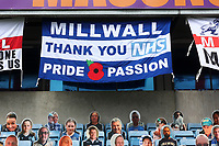 Thank You NHS flag in the stand during Millwall vs Swansea City, Sky Bet EFL Championship Football at The Den on 30th June 2020