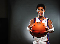 Dec. 16, 2011; Phoenix, AZ, USA; Phoenix Suns guard Josh Childress poses for a portrait during media day at the US Airways Center. Mandatory Credit: Mark J. Rebilas-