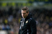 Millwall Manager Neil Harris on the final whistle during the Johnstone's Paint Trophy Southern Final 2nd Leg match between Oxford United and Millwall at the Kassam Stadium, Oxford, England on 2 February 2016. Photo by Andy Rowland / PRiME Media Images.