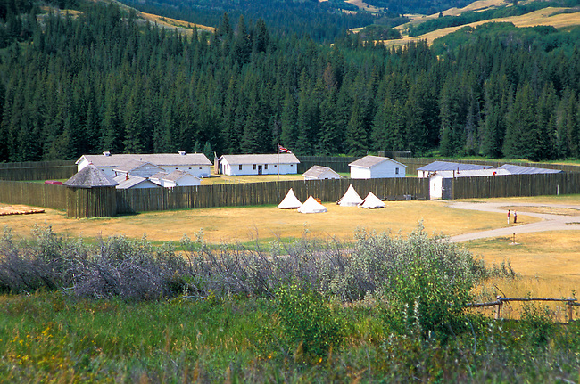 Historic Fort Walsh in Saskachewan Canada where many meetings with the Blackfeet Indians were held during the 1800's