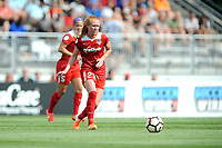 Boyds, MD - Saturday August 12, 2017: Tori Huster during a regular season National Women's Soccer League (NWSL) match between the Washington Spirit and The Boston Breakers at Maureen Hendricks Field, Maryland SoccerPlex.