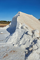 Pictures & images of Pile of sea salt at the salt pans of Trapani, Sicily