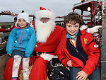 Anna and Andrew Darcy pictured with santa when he visited Julianstown Community Gardens. Photo:Colin Bell/pressphotos.ie