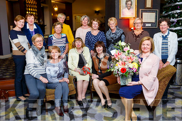 Teresa Irwin who is the new National Sorotimist President with her fellow members of Killarney Soroptimists on Tuesday evening