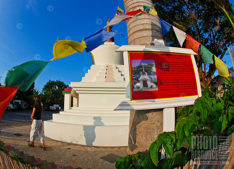 Stupa at the Buddhist Dharma Center in Paia