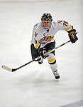 1 February 2008: University of Vermont Catamounts' forward Reese Wisnowski, a Senior from East Middlebury, VT, in action against the University of New Hampshire Wildcats at Gutterson Fieldhouse in Burlington, Vermont. The seventh-ranked Wildcats defeated the Catamounts 5-1in front of a sellout crowd of 4,003...Mandatory Photo Credit: Ed Wolfstein Photo