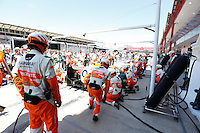 24.06.2012. Valencia, Spain. FIA Formula One World Championship 2012 Grand Prix of Europe Race.  The picture show Force Indian Team