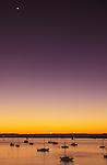 Mexico, Baja California Sur, La Paz, Harbor at Twilight