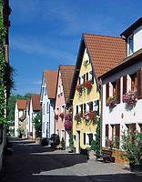 Deutschland, Bayern, Franken, Veitshöchheim: Obere Maingasse | Germany, Bavaria, Upper Bavaria, Franconia, Veitshoechheim: upper Main lane