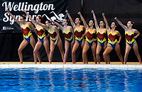 Tauranga Synchro open free team. Day Two of the 2018 North Island Synchronised Swimming Championships at Wellington Regional Aquatics Centre in Wellington, New Zealand on Sunday, 20 May 2018. Photo: Dave Lintott / lintottphoto.co.nz