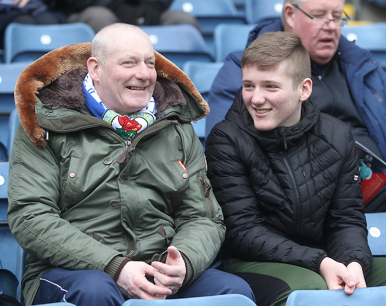 Blackburn Rovers Fans<br /> <br /> Photographer Mick Walker/CameraSport<br /> <br /> The EFL Sky Bet Championship - Blackburn Rovers v Bristol City - Saturday 9th February 2019 - Ewood Park - Blackburn<br /> <br /> World Copyright © 2019 CameraSport. All rights reserved. 43 Linden Ave. Countesthorpe. Leicester. England. LE8 5PG - Tel: +44 (0) 116 277 4147 - admin@camerasport.com - www.camerasport.com