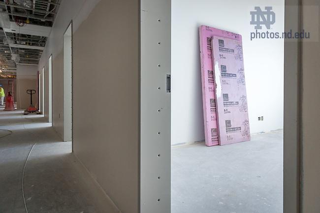 March 8, 2017; O'Neill Hall 5th floor under construction (Photo by Matt Cashore/University of Notre Dame)