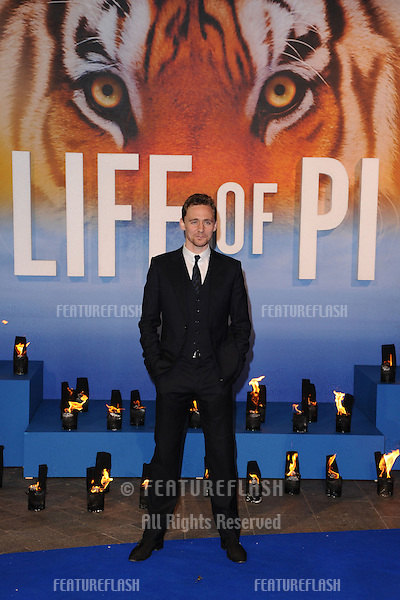 "Tom Hiddlestone arriving for the ""Life of Pi"" premiere at the Empire, Leicester Square, London. 03/12/2012 Picture by: Steve Vas / Featureflash"