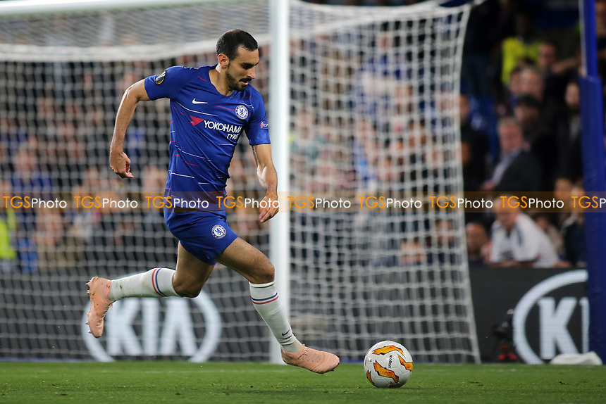 Davide Zappacosta of Chelsea in action during Chelsea vs MOL Vidi, UEFA Europa League Football at Stamford Bridge on 4th October 2018