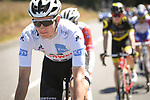 White Jersey Soren Kragh Anderson (DEN) Team Sunweb in action during Stage 5 of the 2018 Tour de France running 204.5km from Lorient to Quimper, France. 11th July 2018. <br /> Picture: ASO/Pauline Ballet | Cyclefile<br /> All photos usage must carry mandatory copyright credit (&copy; Cyclefile | ASO/Pauline Ballet)