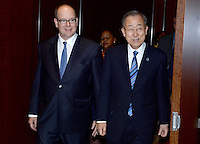 NEW YORK, NY - OCTOBER 24: UN Secretary General Ban Ki-moon meets with Prince of Monaco Albert II during a meeting at the United Nations Headquarters on October 24, 2016 in New York City. Credit: Dennis Van Tine/MediaPunch