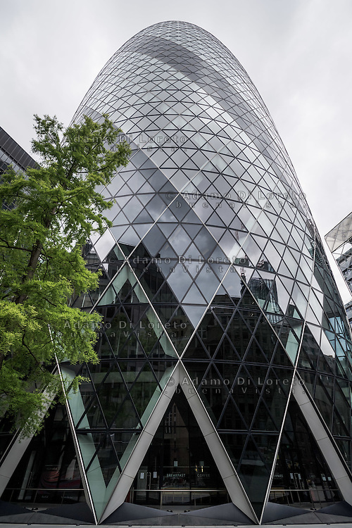 30 St Mary Axe in London City before the Brexit Referendum, on june, 2016. Photo: Adamo Di Loreto/buenaVista*photo