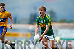 Fiáchra Clifford Kerry in action against  Clare in the Munster Minor Football Final at Fitzgerald Stadium on Sunday.