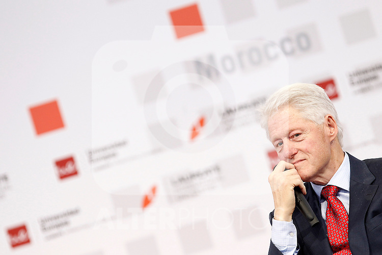 """Former U.S.A. President Bill Clinton during his speech in Congress """"LAUREATE & JOBS SUMMIT ON YOUTH"""".May 21,2013. (ALTERPHOTOS/Acero)"""