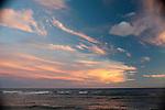 Beautiful clouds lit during sunset, Kauai, Hawaii