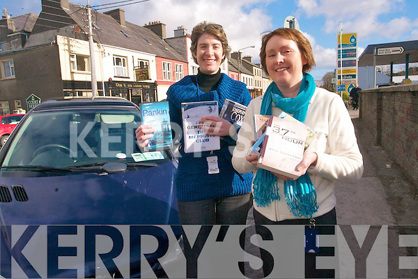 Librarians, Noreen O'Sulllivan and Hazel Joy of Cahersiveen Library who are launching a pilot programme to bring books to people who are unable to access their service. .