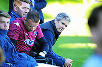 Auckland coach Ramon Tribulietx looks down towards the Team Wellington bench in the final minute of the Charity Cup match between Team Wellington and Auckland City FC at David Farrington Park in Wellington, New Zealand on Sunday, 15 October 2017. Photo: Dave Lintott / lintottphoto.co.nz