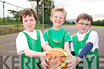 Luke Griffin, Dave Lucid and Evan O'Brien at the Team Kerry Basketball Camp at Mercy Mounthawk on Tuesday..
